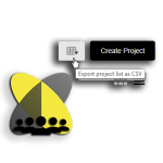 Download your project overview as csv file