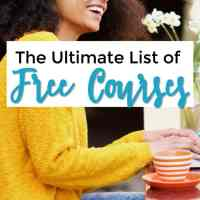 The Ultimate List of Free Courses