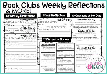 Book clubs in the elementary classroom activities