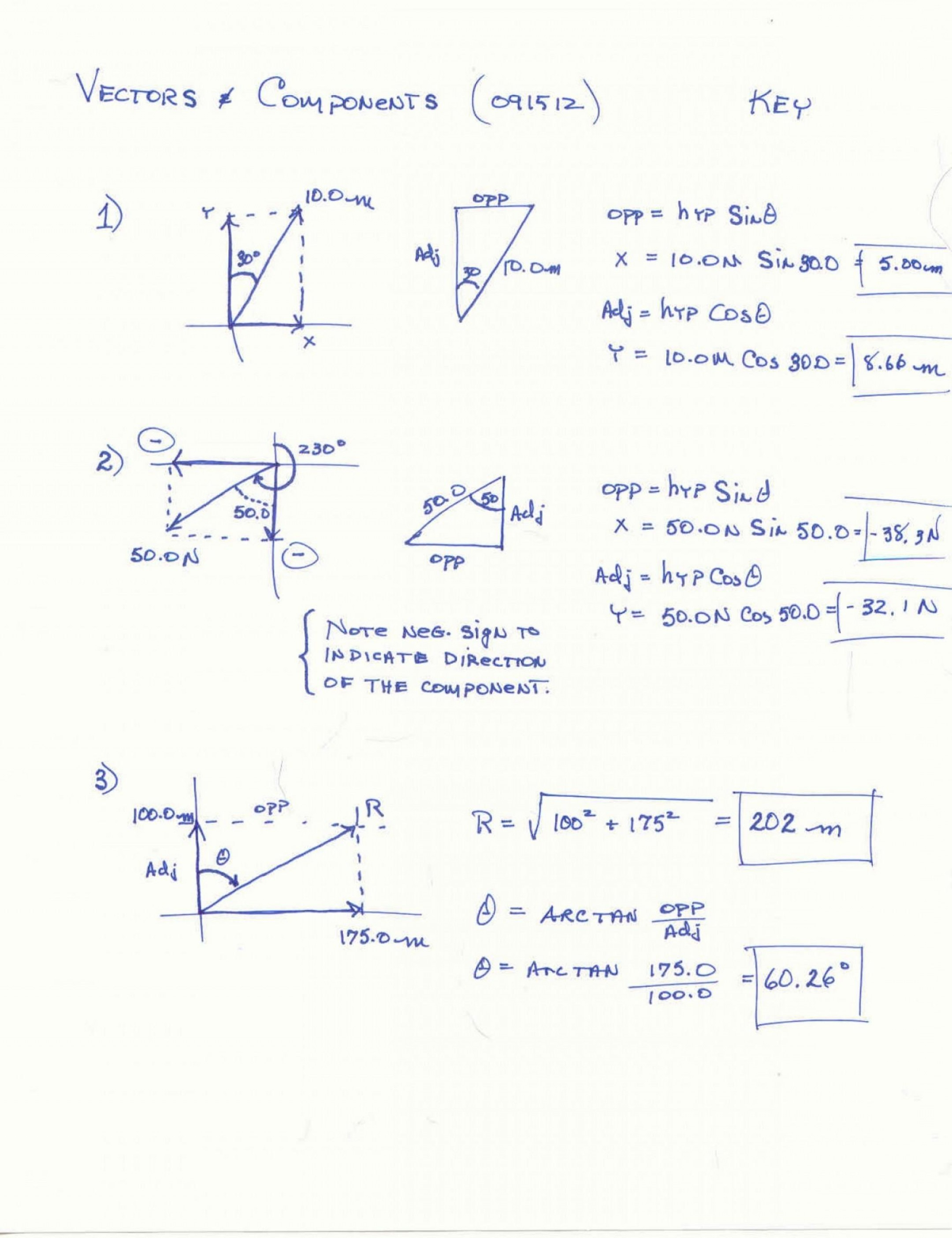Vector Addition Worksheet Answer Key : vector, addition, worksheet, answer, Vector, Addition, Components, Worksheet, Answers, Promotiontablecovers