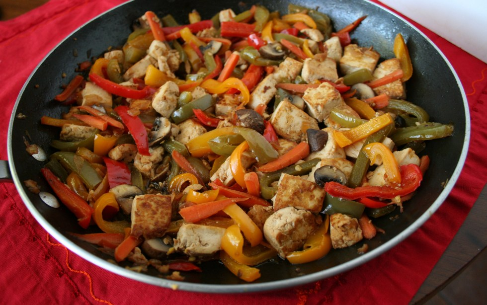 Tofu and Pepper Stir Fry for Chinese New Year (vegan, gluten free) - This savory dish is quick and easy to make. It is perfect for a weeknight meal!