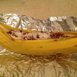 Campfire Stuffed Bananas