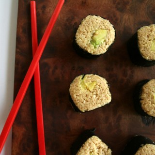 Avocado Sushi Rolls with Parsnip Rice