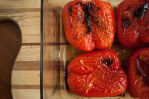 roasting red peppers in oven