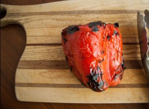 roasting red peppers on stovetop