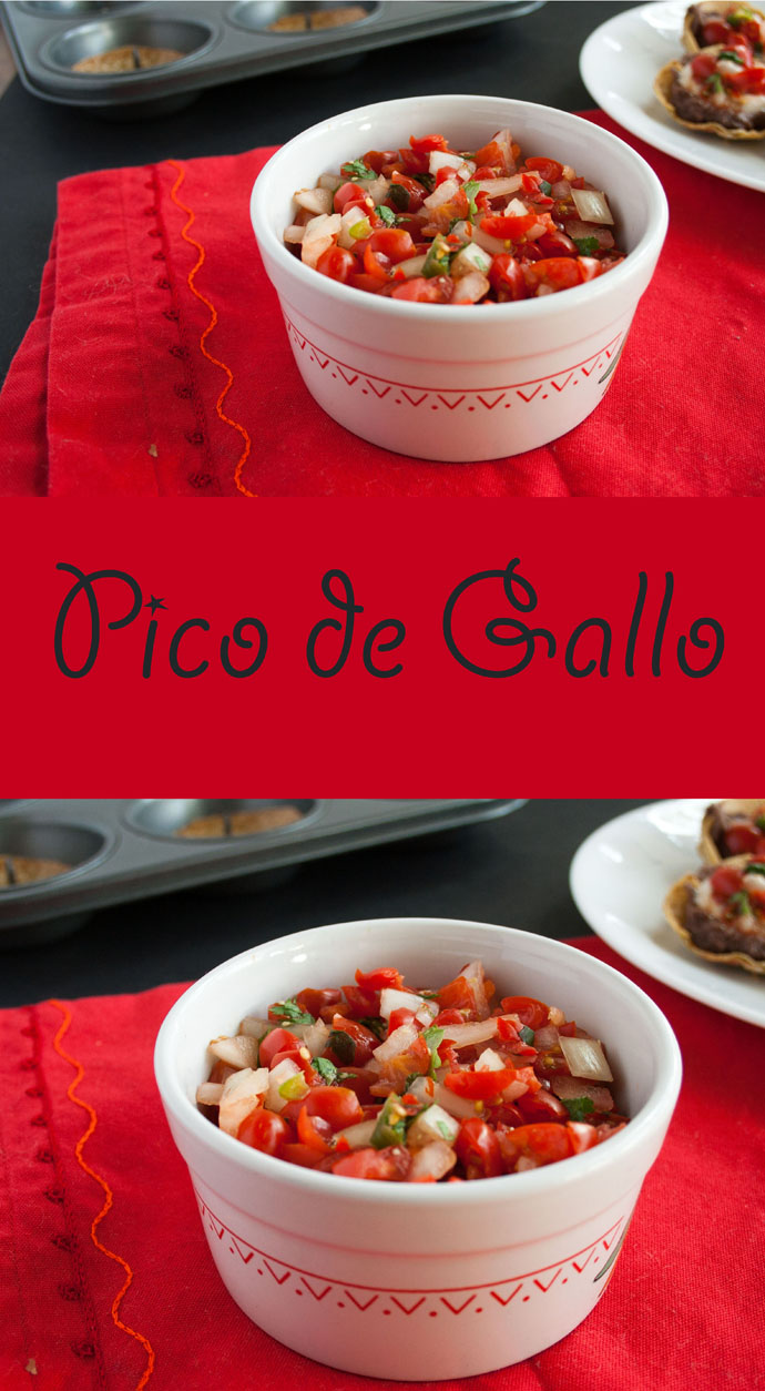 Pico de Gallo - This mild Pico de Gallo pairs well with chips, tacos, or tostadas. It will be the first thing to go at a party!