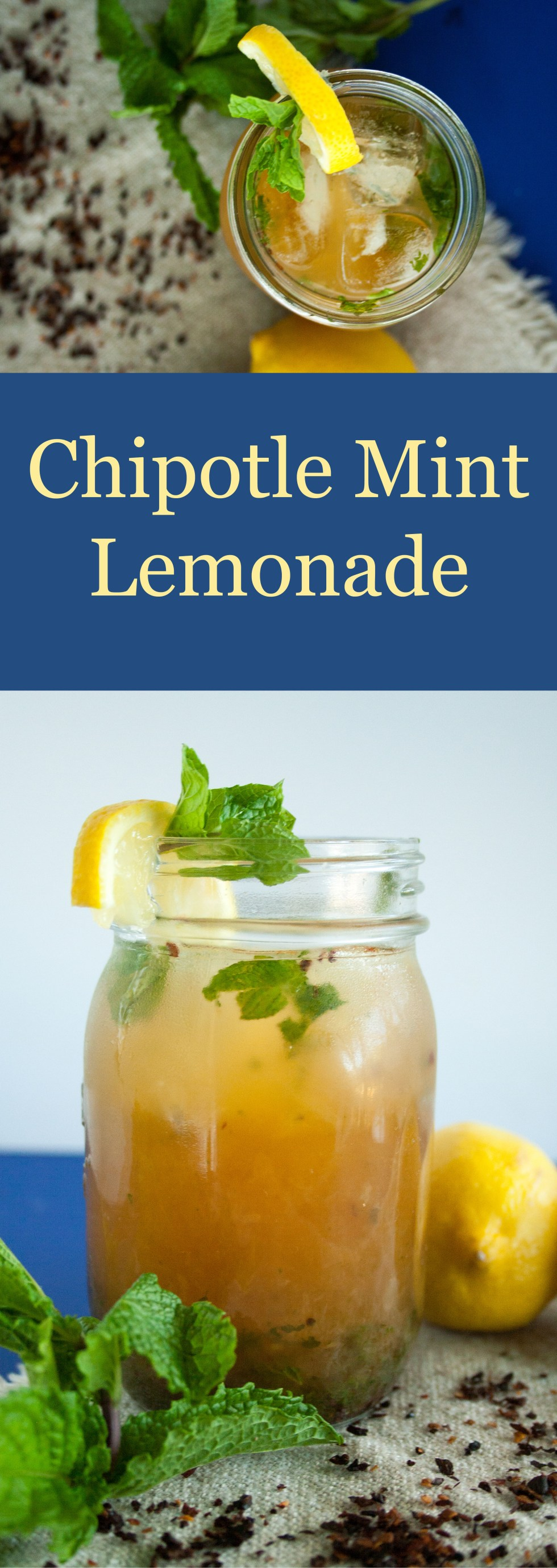 Chipotle Mint Lemonade (vegan, gluten free) - This easy lemonade is sweet, smoky, and minty. Add some vodka for a refreshing cocktail!