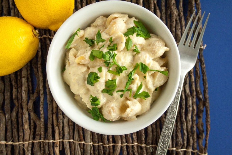 Lemon Garlic Pasta - (vegan, gluten free) - This creamy vegan gluten free pasta is what you will want to reach for when craving comfort foods.