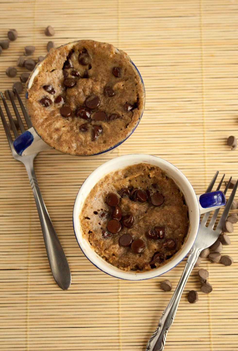 Healthy Chocolate Chip Cake In A Mug