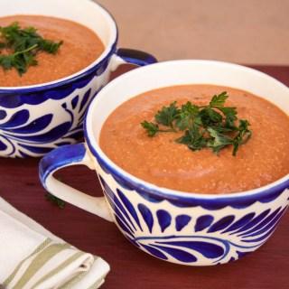 Creamy Tomato Soup with Balsamic Vinegar