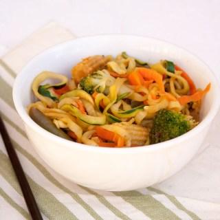 Ginger Garlic Zucchini Noodle Stir Fry