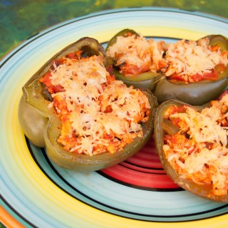Tofu Scramble Stuffed Peppers