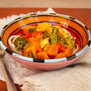 Thai Red Curry with Tofu and Kabocha Squash