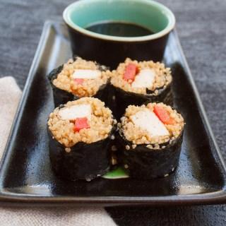 Tofu Sushi Rolls with Quinoa