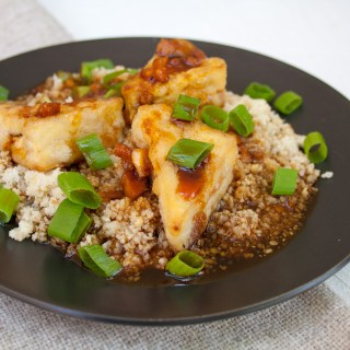 Crispy Teriyaki Tofu and Cauliflower Rice