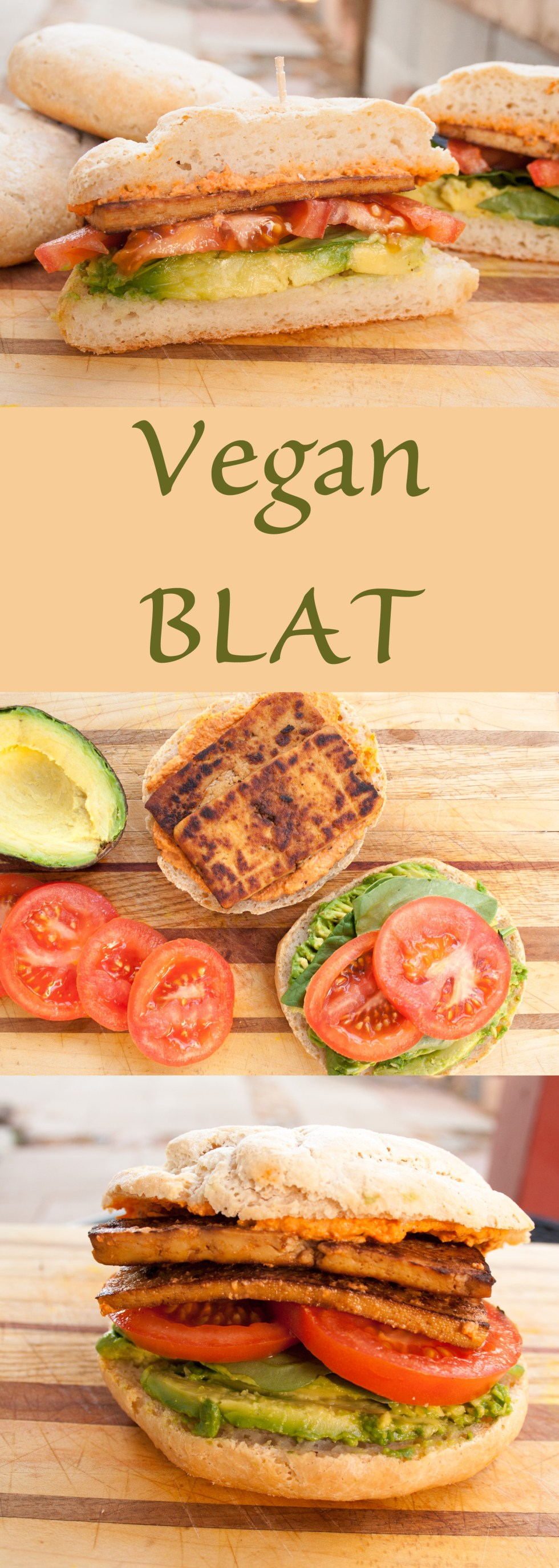 Vegan BLAT - This vegan gluten free sandwich is so good, you won't miss the bacon! It has a sweet and savory roasted red pepper spread to compliment the savory tofu bacon.