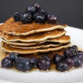 Vegan Gluten Free Blueberry Pancakes