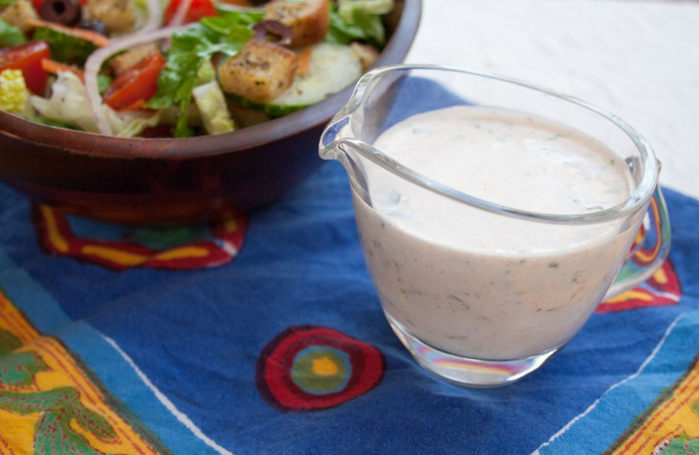 Vegan Ranch Dressing (gluten free)- This ranch is made with fresh herbs. It is so good that you will want to switch out your store bought dressing!
