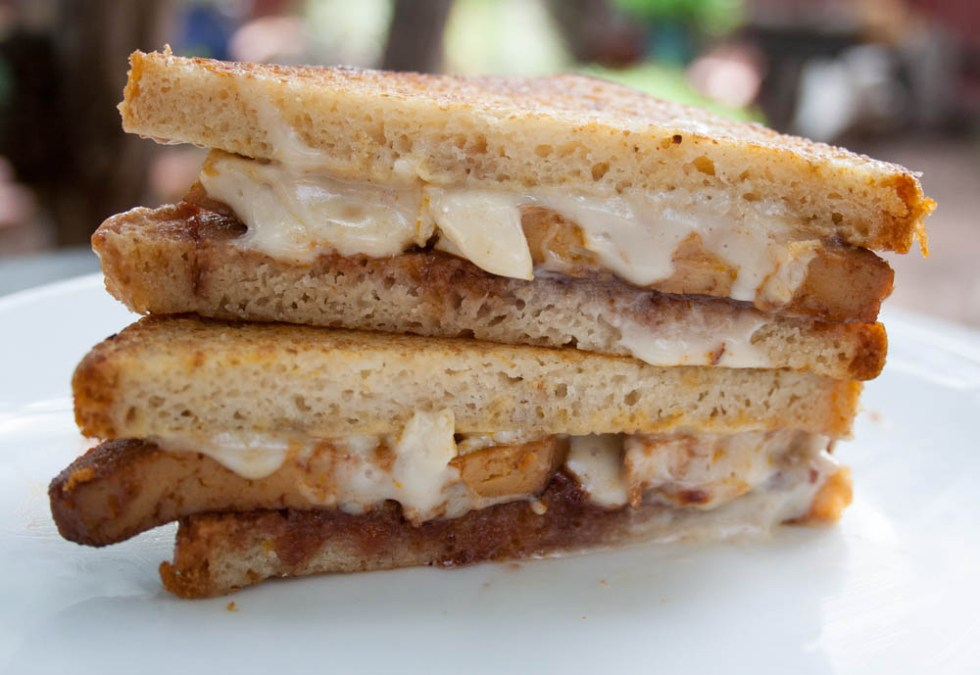 Vegan Monte Cristo (gluten free) - This sandwich is rich, sweet, and savory. Eat it for breakfast or other times of the day. Perfect for the holidays!