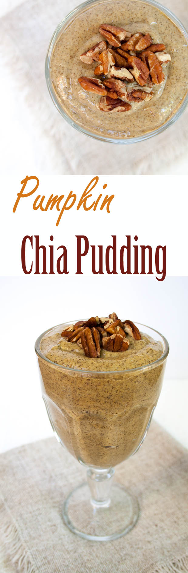 This smooth and creamy Pumpkin Chia Pudding is not only easy to make, but is healthy enough to be eaten for breakfast.