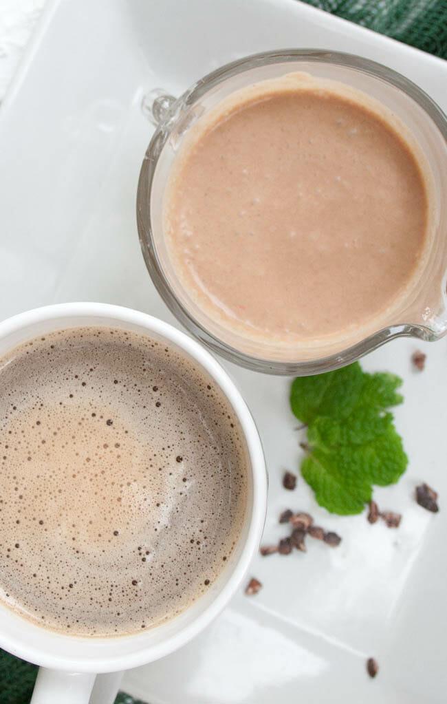 Mint Chocolate Coffee Creamer birds eye.