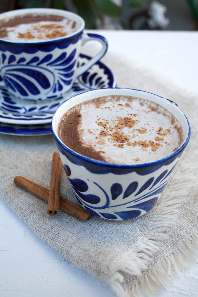Vegan Mexican Hot Chocolate vertical.