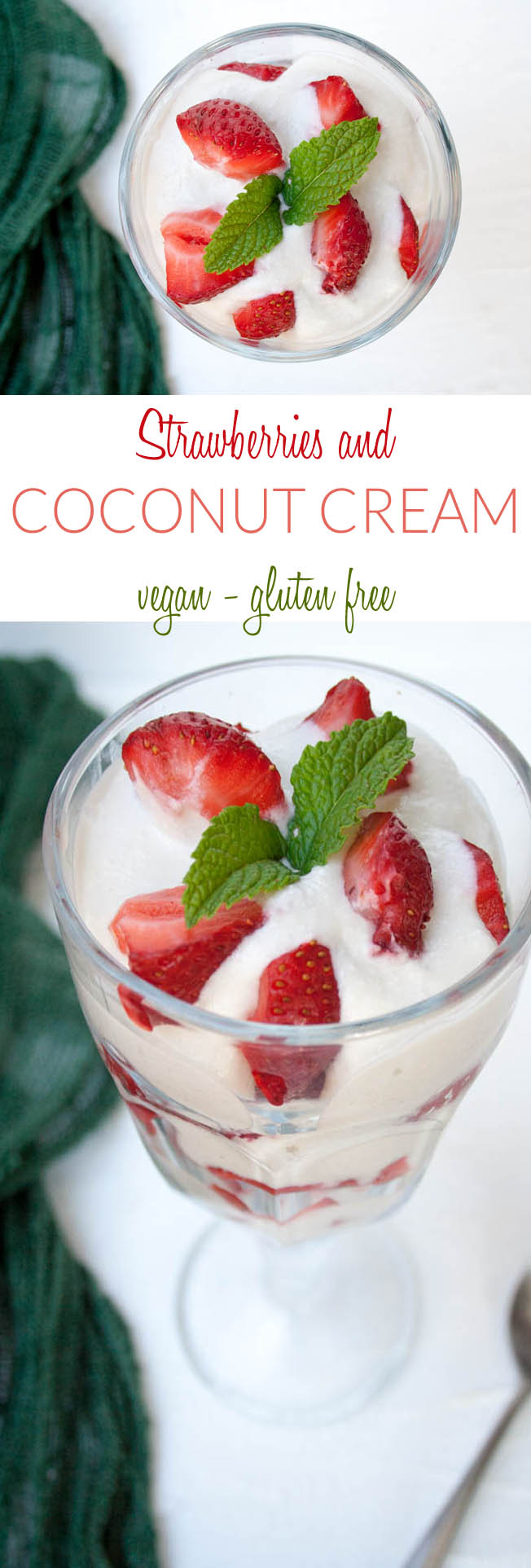 Strawberries and Coconut Cream (vegan, gluten free) - This easy dessert will make you feel like you are indulging, but it is really quite healthy!