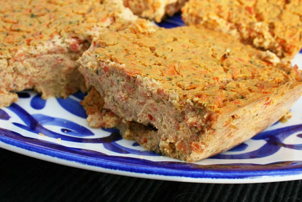 Tofu Frittata close up.