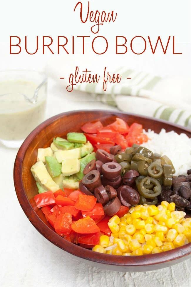Vegan Burrito Bowl photo with text