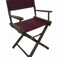 Tall Directors Chair With Side Table Discontinued Thomasville Dining Chairs Embroidered Height Walnut Frame 18