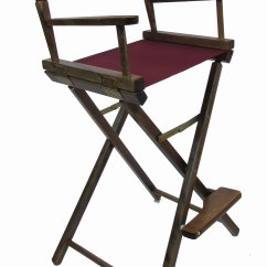 Customized Directors Chair Desk Next Day Delivery Embroidered Bar Height Walnut Frame Chairs 30