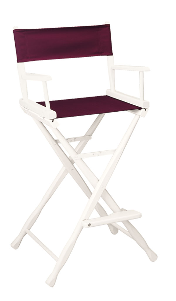 customized directors chair ikea gullholmen rocking imprinted bar height white frame chairs 30 seat classic model finish