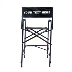 Folding Chair Embroidered Office Chairs Bali All Aluminum 30 Inch Directors Custom