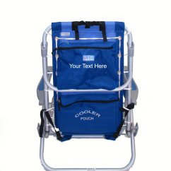 Backpack Cooler Beach Chair Kitchen Island With Chairs Imprinted Deluxe Aluminum Lay Flat W