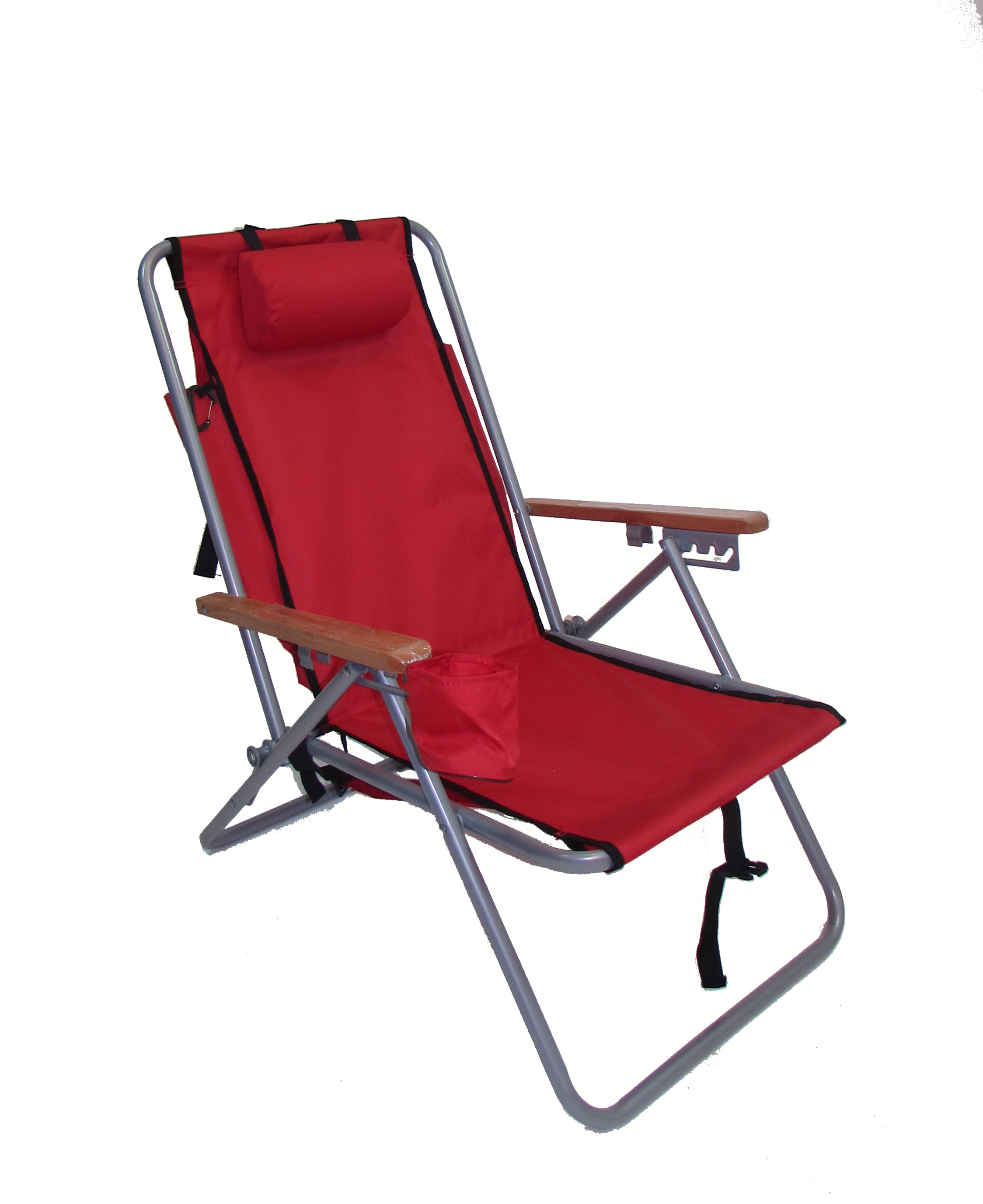 high back beach chair upholstered counter chairs imprinted hi steel backpack by rio