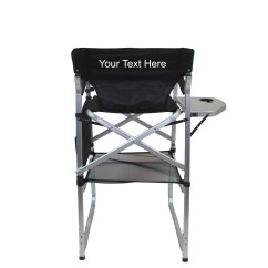 Aluminum Directors Chair Covers For Plastic Folding Chairs Imprinted Bar Height With Table