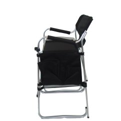 Tall Directors Chair With Side Table Teen Bedroom Chairs Imprinted Aluminum Bar Height