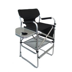 Aluminum Directors Chair Indoor Swing With Stand Imprinted Bar Height Table