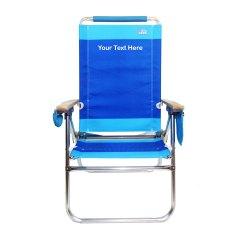 Hi Boy Beach Chair With Desk Attached Uk Imprinted By Rio Custom Designer
