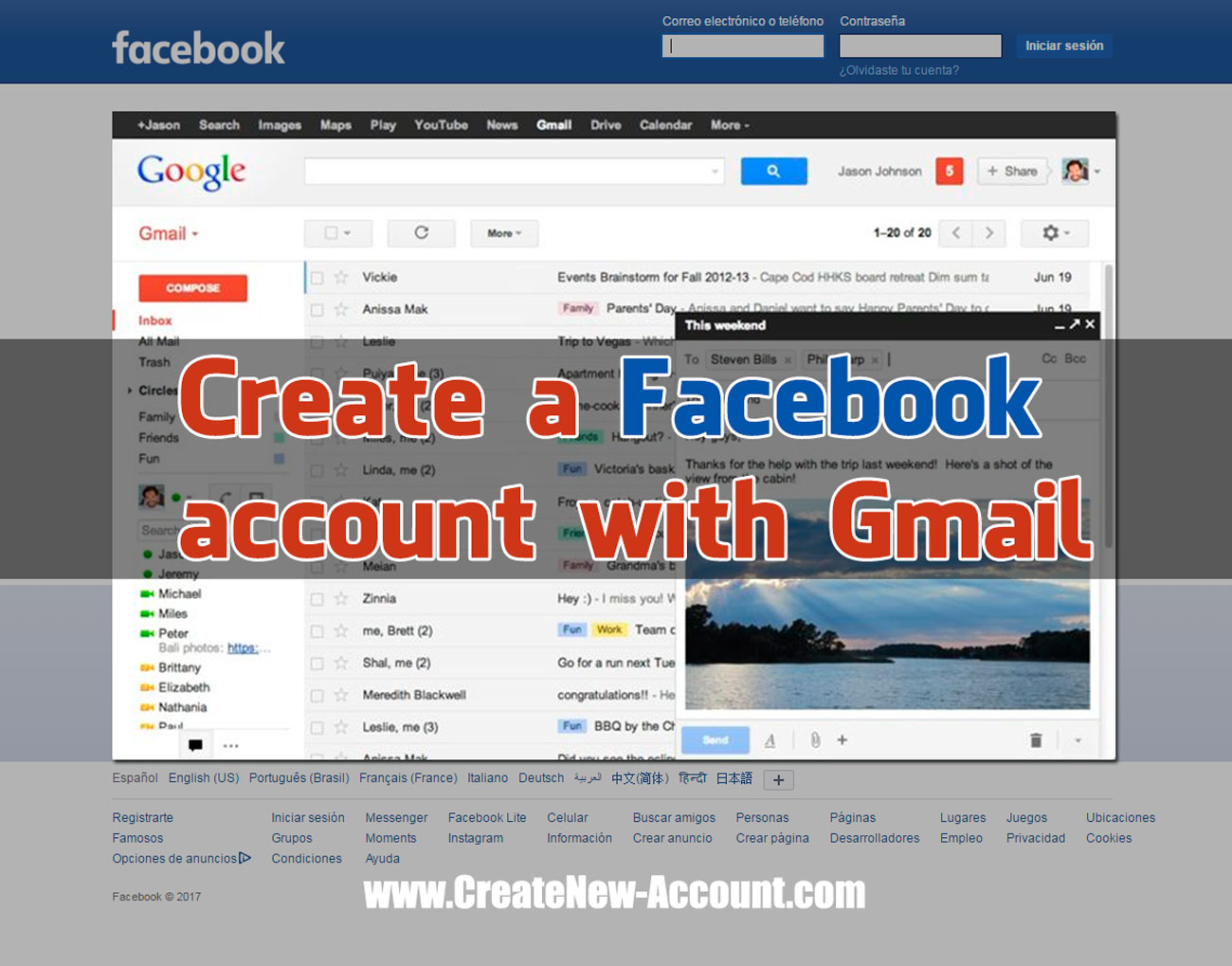 Facebook Account New New Create
