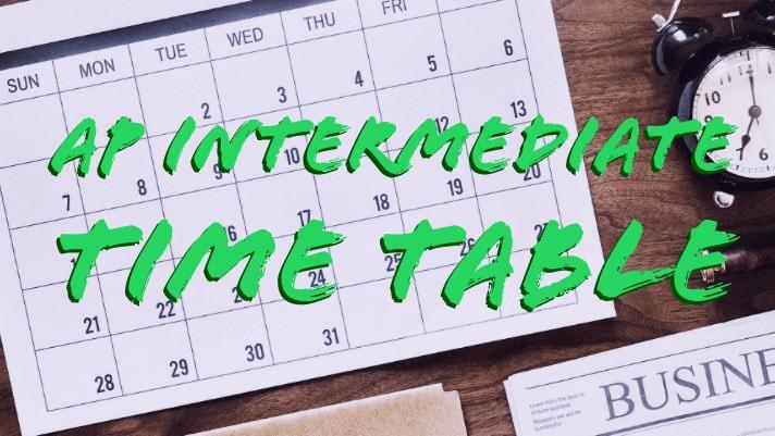 AP Inter Time table 2020 Manabadi Exam