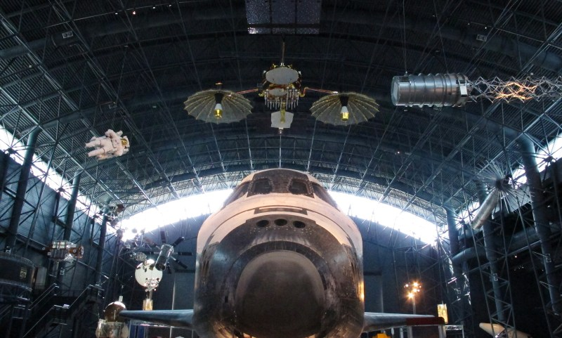 Discovery Space Shuttle - View from Front