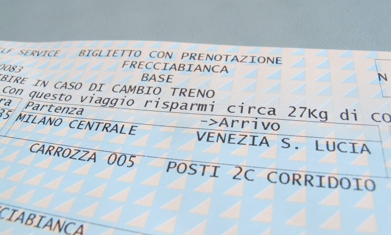 Train Ticket from Milan to Venice