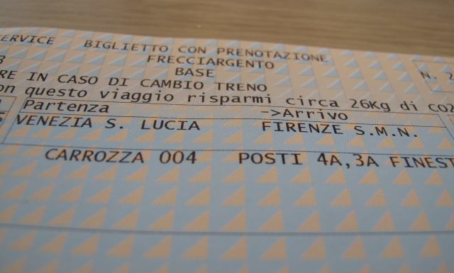Florence Train Ticket