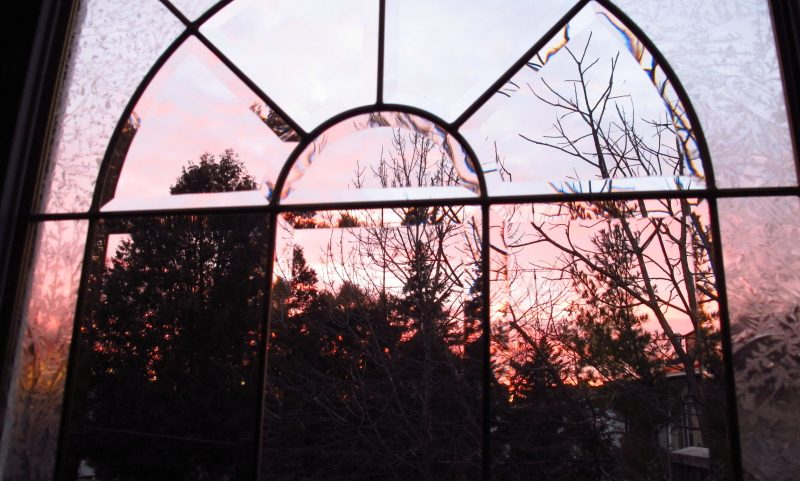 Sunset Through Window