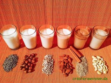 Pflanzenmilch inklusiv Hanfmilch
