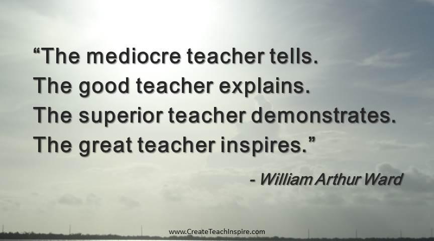 great teachers inspire create