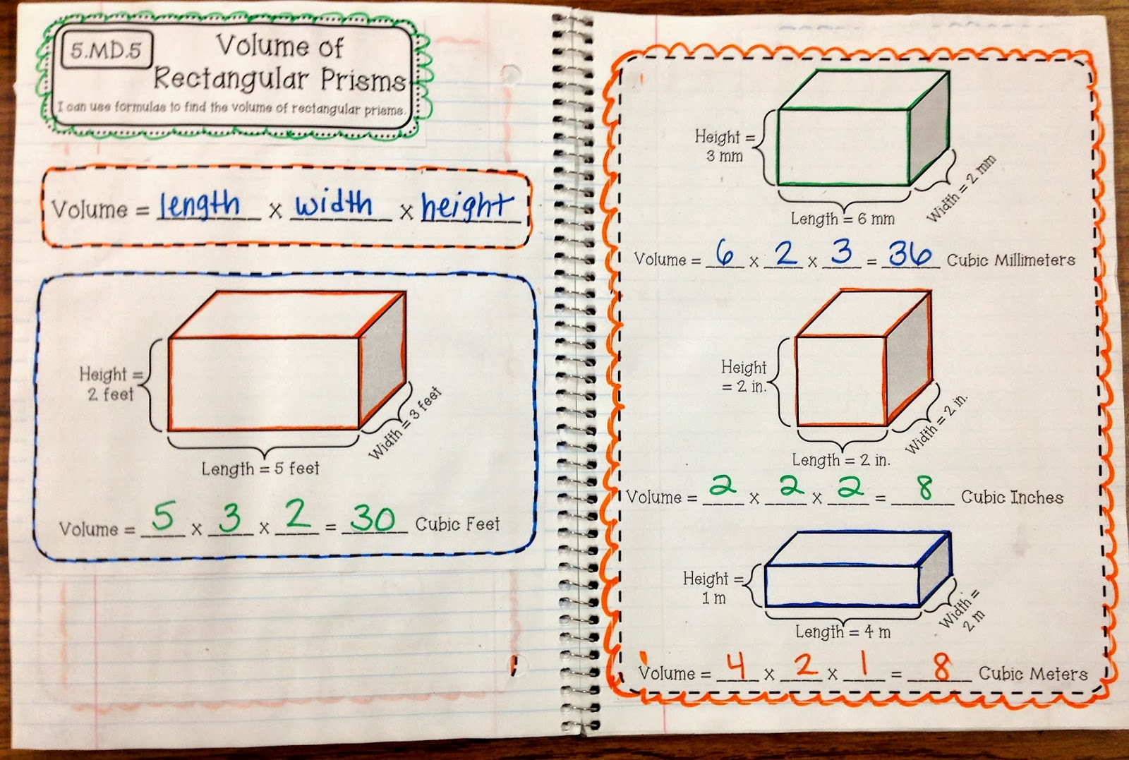 hight resolution of 5th Grade Interactive Math Notebooks for Measurement \u0026 Data and Geometry -  Create Teach Share