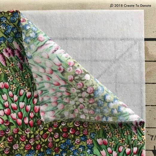 Fusing fabrics together for a toiletry bag
