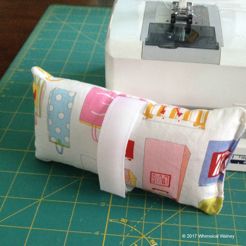 Make a chemo port pillow for a seatbelt.